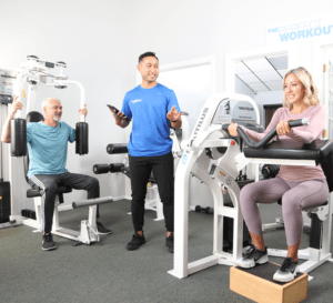 group workout on machines